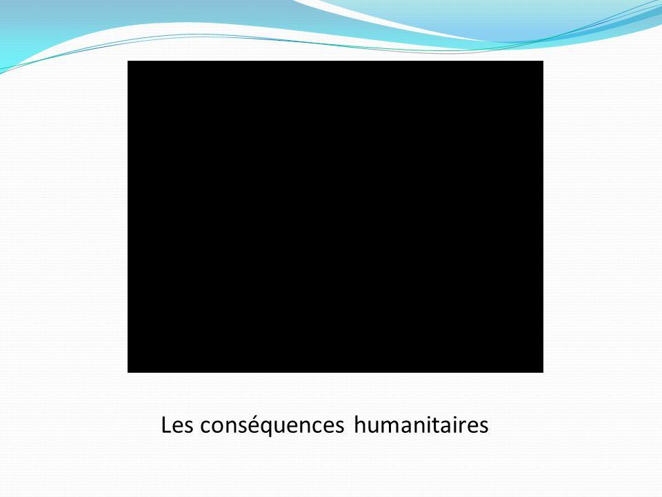 Les conséquences humanitaires