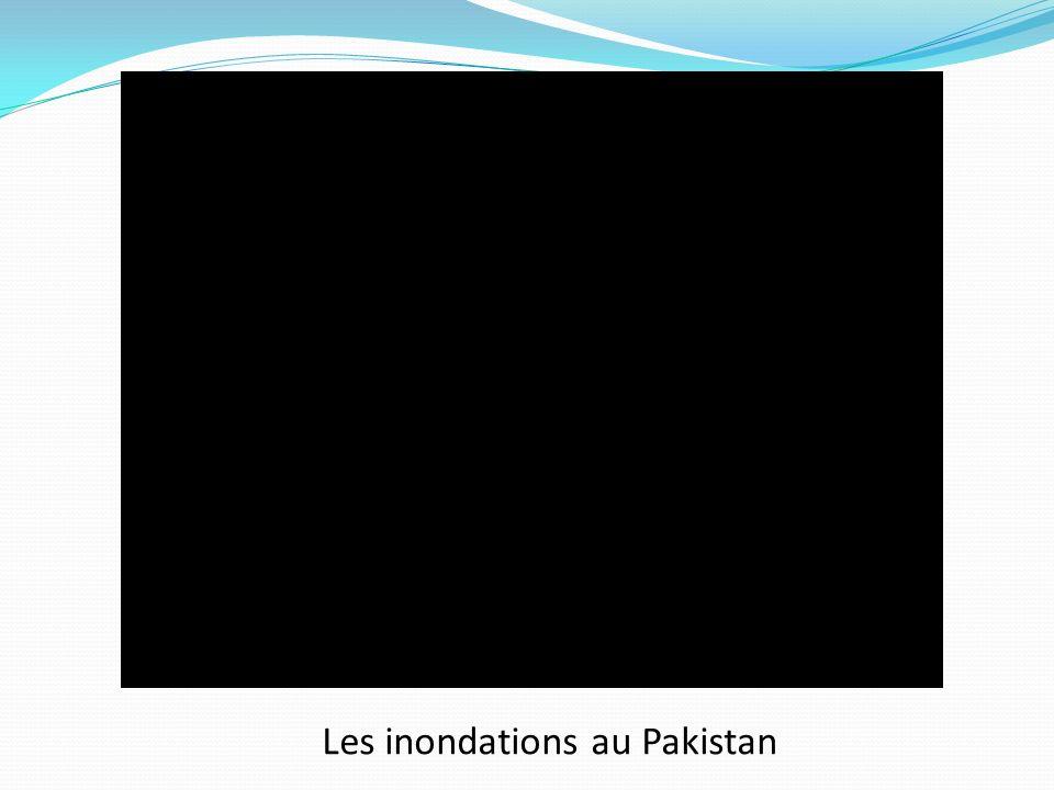 Les inondations au Pakistan