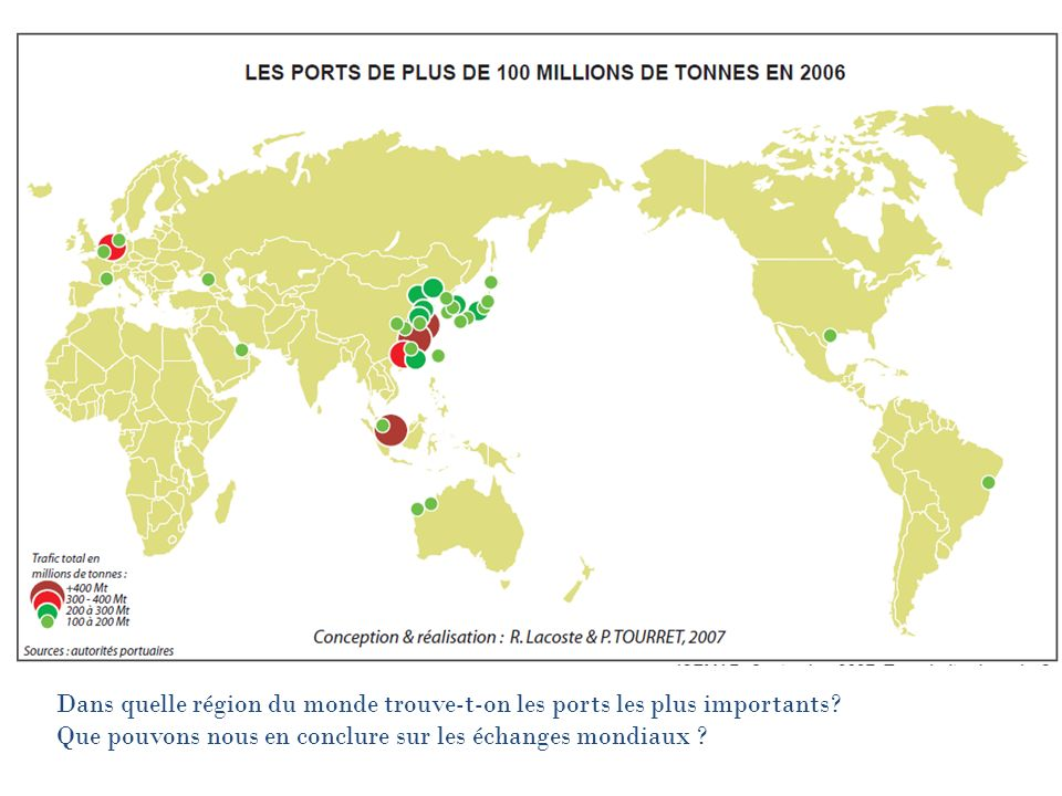 Dans quelle région du monde trouve-t-on les ports les plus importants.