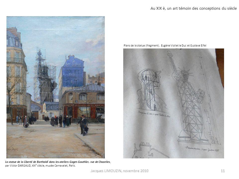La statue de la Liberté de Bartholdi dans les ateliers Gaget-Gauthier, rue de Chazelles, par Victor DARGAUD, XIX° siècle, musée Carnavalet, Paris. Pla