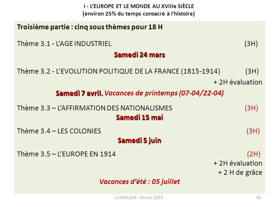 Thème 1 - LEUROPE DANS LE MONDE AU DÉBUT DU XVIIIe SIÈCLE CONNAISSANCES Les grandes puissances européennes et leurs domaines coloniaux, les grands cou