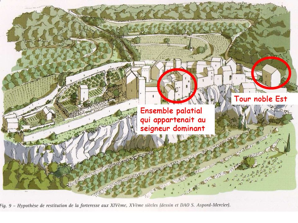 Ensemble palatial qui appartenait au seigneur dominant Tour noble Est