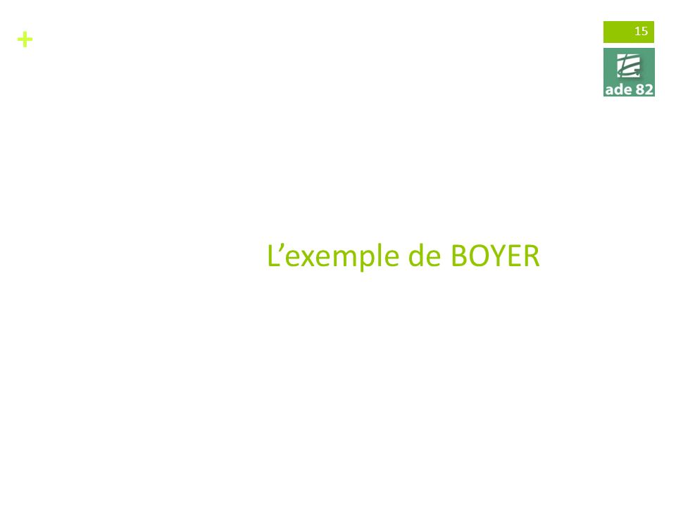 + 15 Lexemple de BOYER
