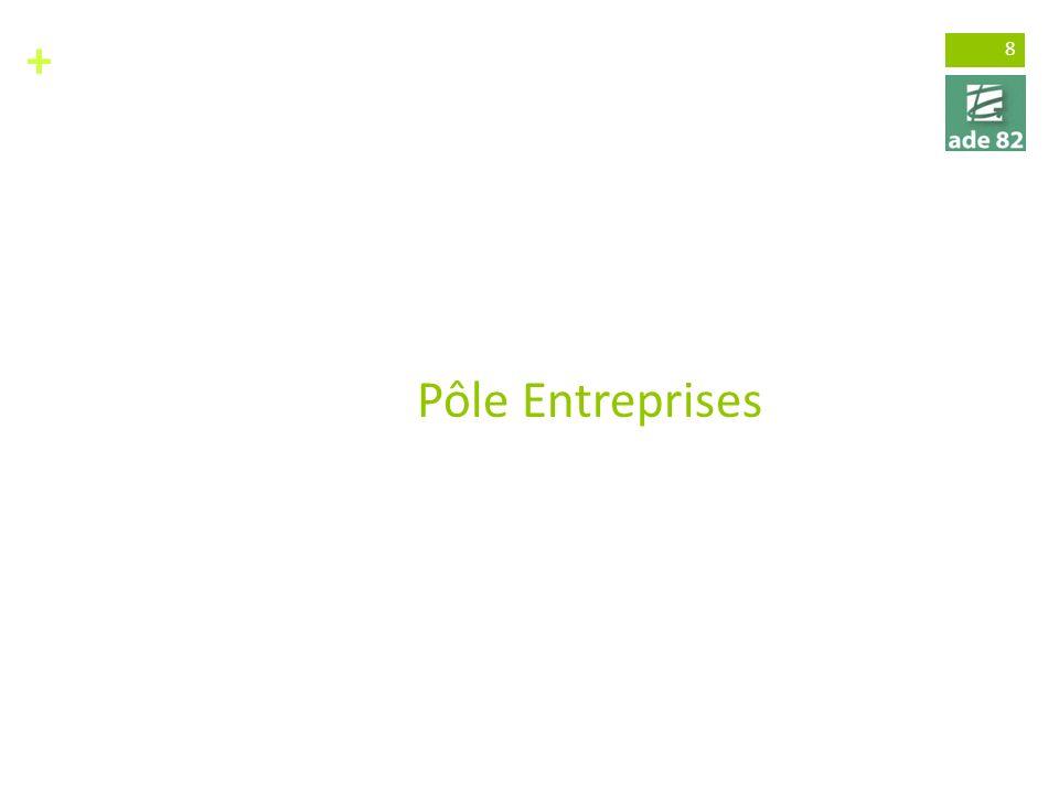 + 8 Pôle Entreprises