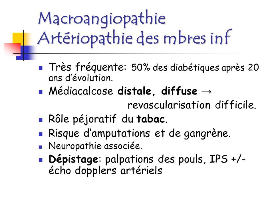 Macroangiopathie Sténose des artères rénales + frte.