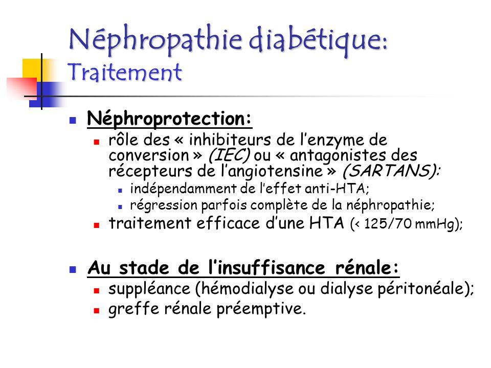 1ère cause de cécité en France (3% des diabétiques).