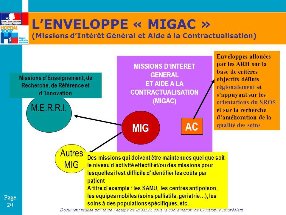 Document réalisé par toute léquipe de la MT2A sous la coordination de Christophe Andréoletti Page 20 MISSIONS DINTERET GENERAL ET AIDE A LA CONTRACTUA