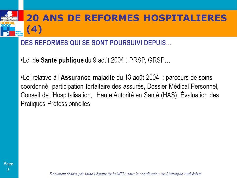 Document réalisé par toute léquipe de la MT2A sous la coordination de Christophe Andréoletti Page 34 quelques sites Internet utiles : http://www.sante.gouv.fr http://www.reformes-hospitalieres.fr http://www.atih.fr