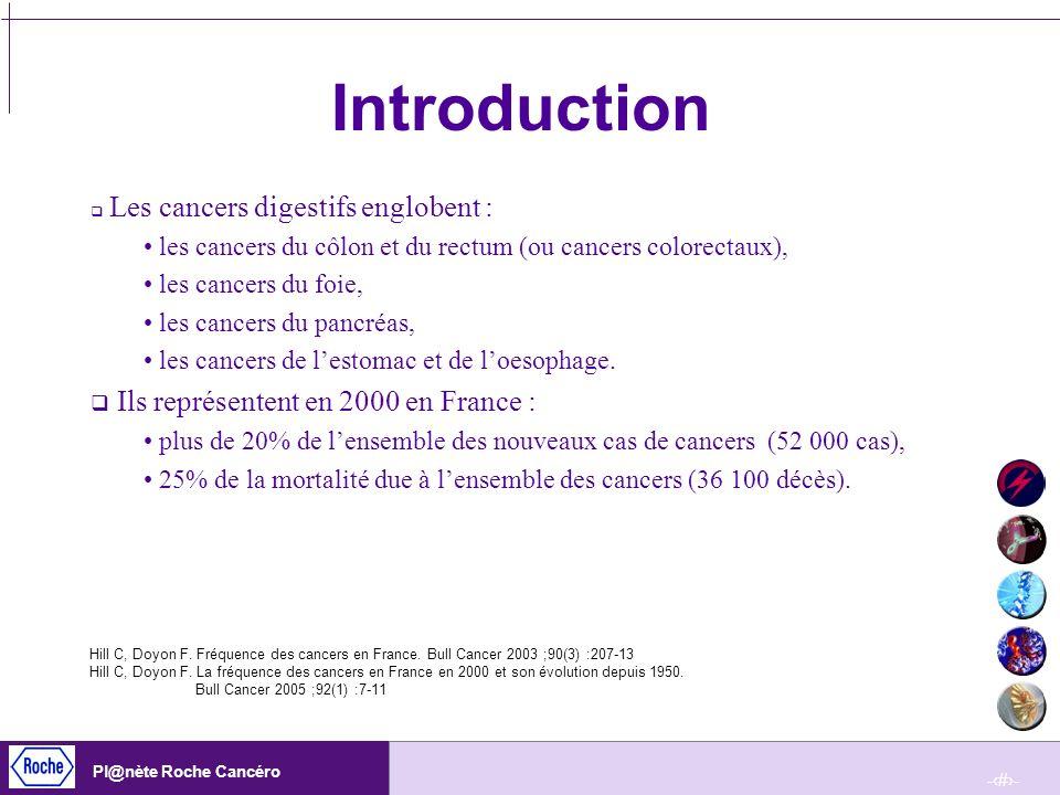 -4- Pl@nète Roche Cancéro Définitions Incidence : fréquence de nouveaux cas de cancers digestifs apparus pendant une période donnée dans une population donnée.
