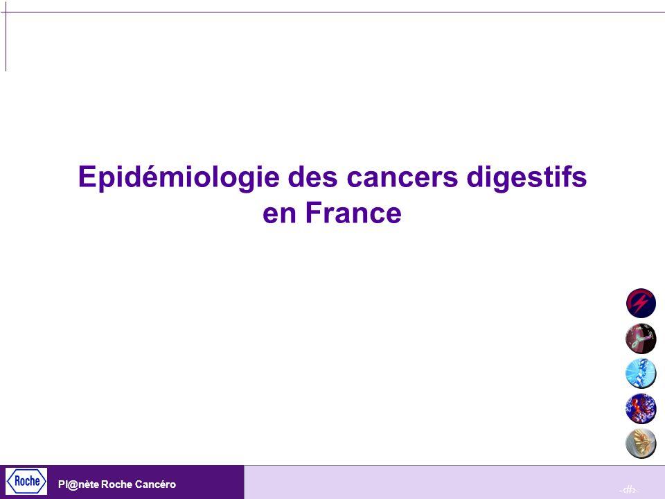 -8- Pl@nète Roche Cancéro Mortalité (1999) et incidence (2000) des cancers digestifs en fonction du sexe Hill C, Doyon F.