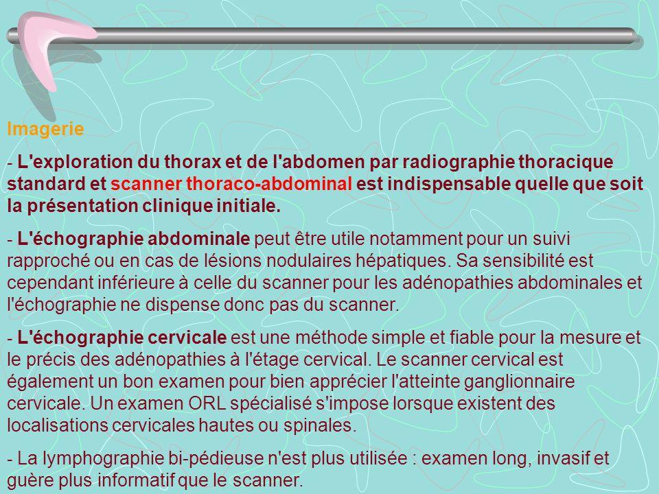 Imagerie - L'exploration du thorax et de l'abdomen par radiographie thoracique standard et scanner thoraco-abdominal est indispensable quelle que soit