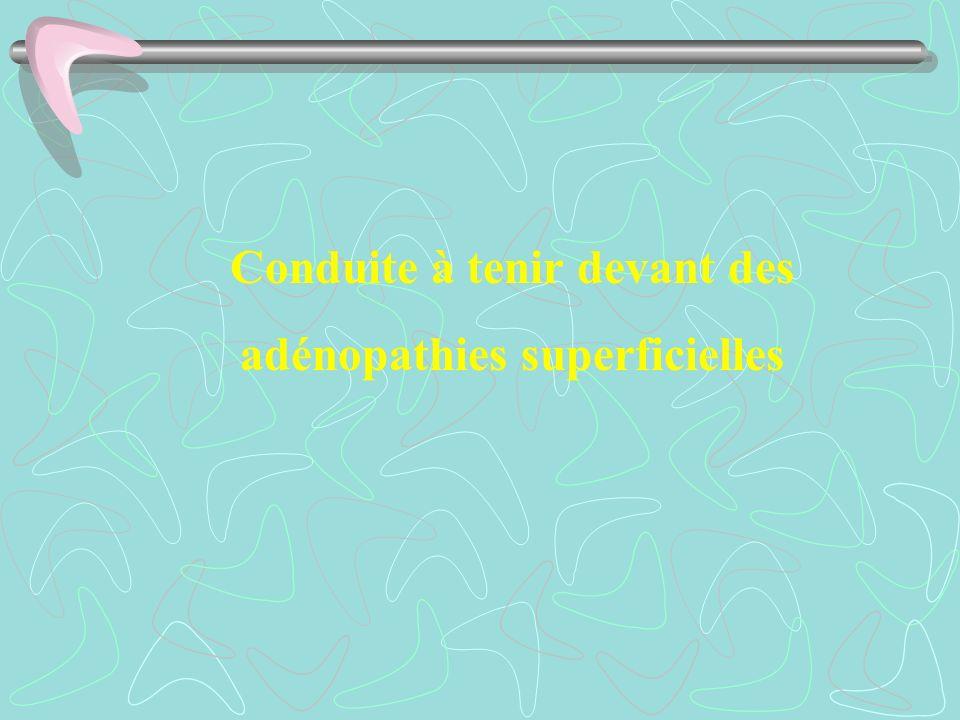 Conduite à tenir devant des adénopathies superficielles