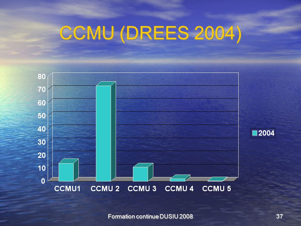 Formation continue DUSIU 200837 CCMU (DREES 2004)
