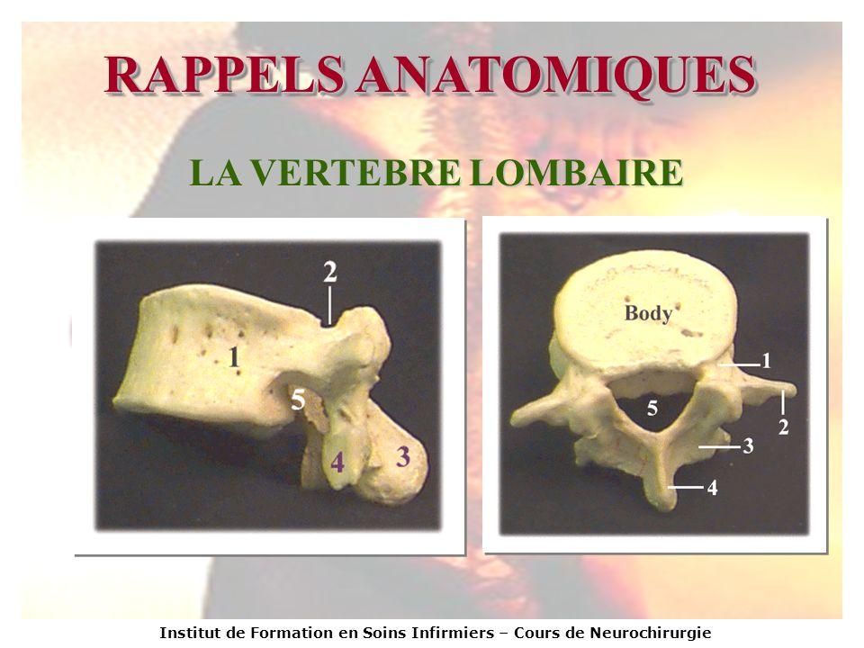 Institut de Formation en Soins Infirmiers – Cours de Neurochirurgie TABLEAUX CLINIQUES