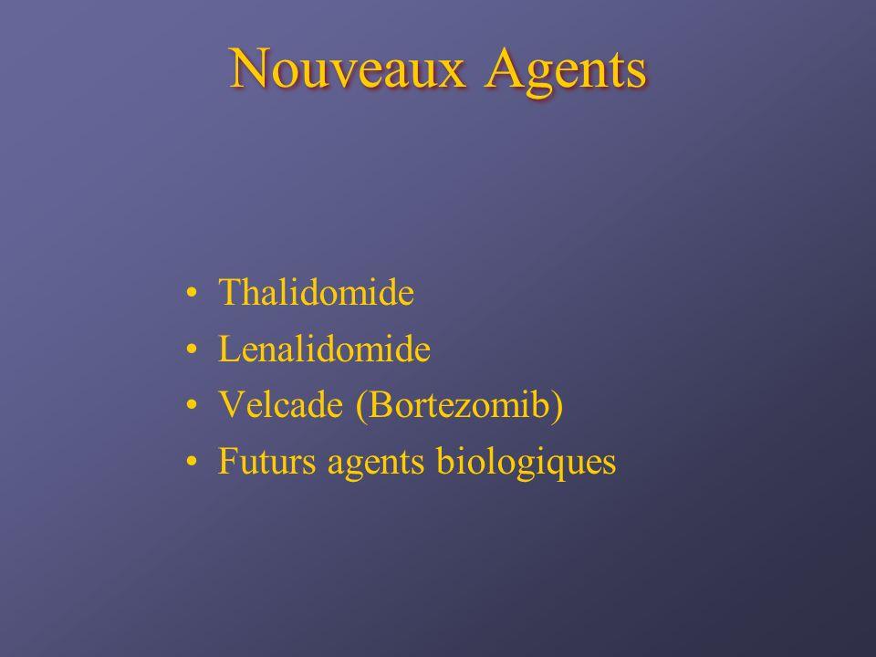 Nouveaux Agents Thalidomide Lenalidomide Velcade (Bortezomib) Futurs agents biologiques