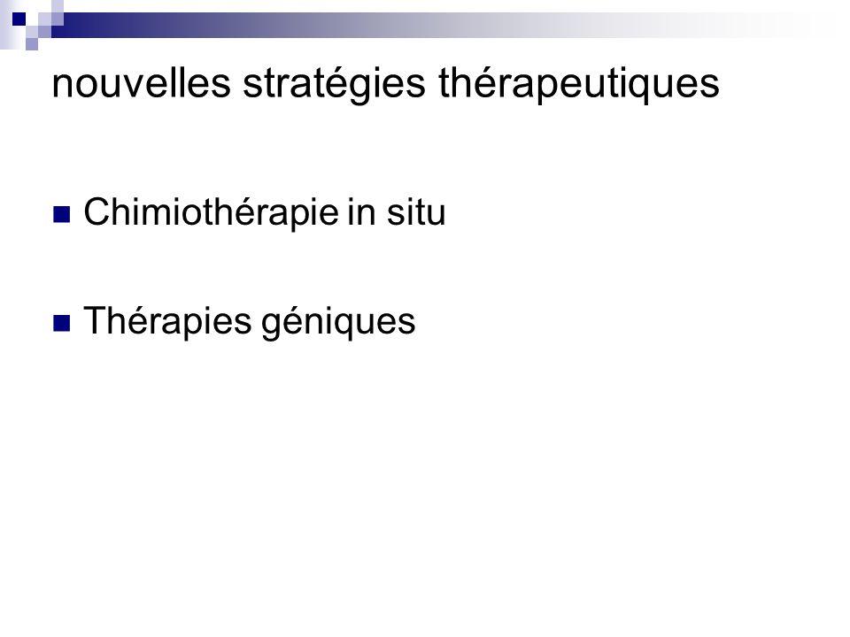 nouvelles stratégies thérapeutiques Chimiothérapie in situ Thérapies géniques