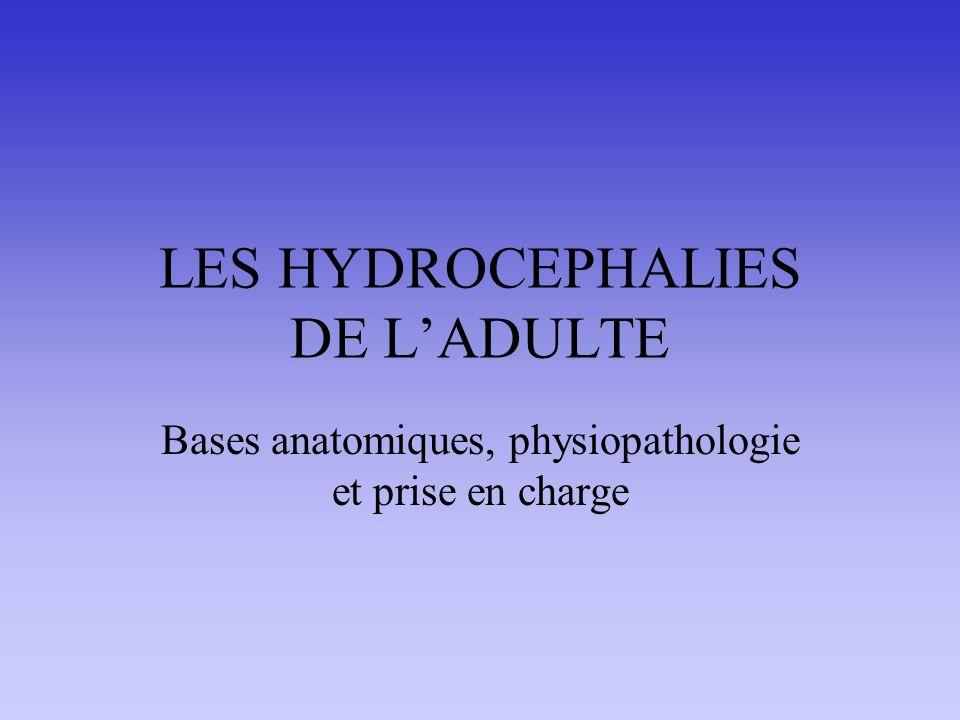 ANATOMO PHYSIOLOGIE LCR produit dans les ventricules cérébraux (plexus choroïdes) Circulation intra puis péricérébrale et péridurale Résorption au niveau du sinus sagittal (granulations de Pacchioni)