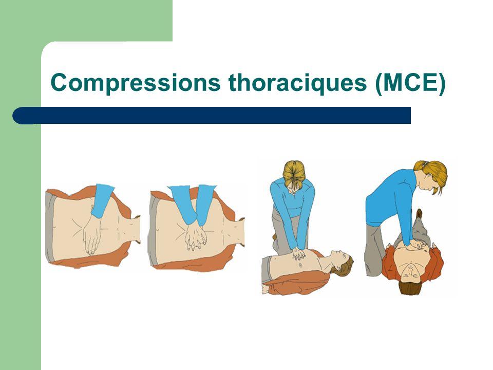 Compressions thoraciques (MCE)