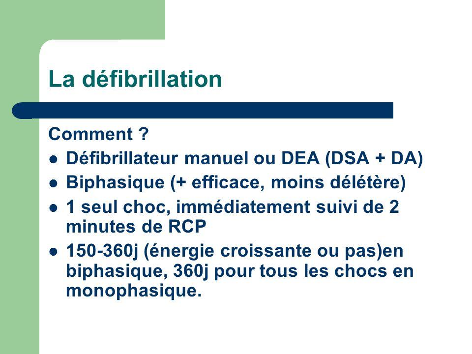 La défibrillation Comment .