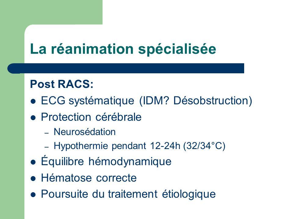 La réanimation spécialisée Post RACS: ECG systématique (IDM.