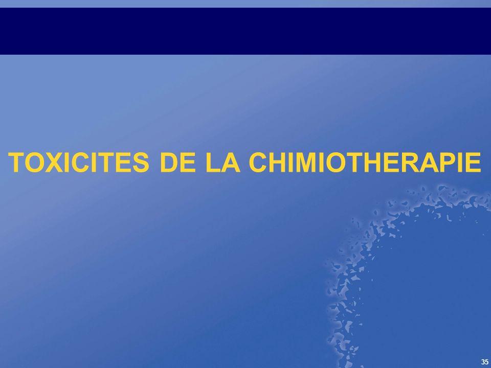 35 TOXICITES DE LA CHIMIOTHERAPIE