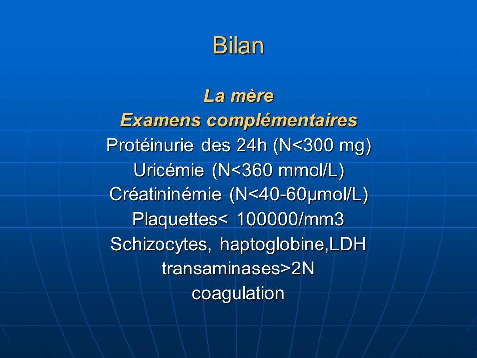 Bilan Le Fœtus Léchographie Biométries: BIP, PA, fémur, PEF