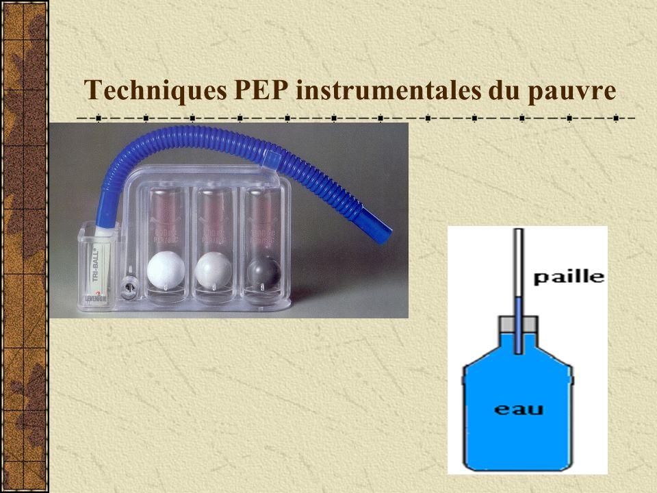Techniques PEP instrumentales du pauvre