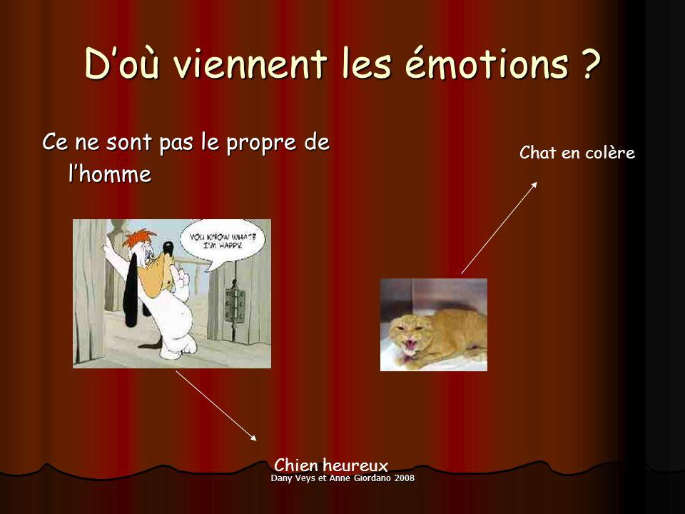 Dany Veys et Anne Giordano 2008 Doù viennent les émotions ? Ce ne sont pas le propre de lhomme Chat en colère Chien heureux