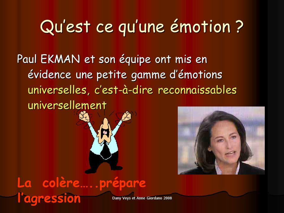 Quest ce quune émotion ? Paul EKMAN et son équipe ont mis en évidence une petite gamme démotions universelles, cest-à-dire reconnaissables universelle
