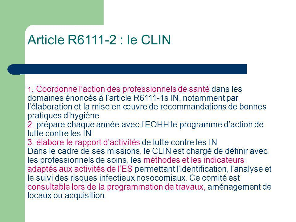 Article R6111-2 : le CLIN 1.