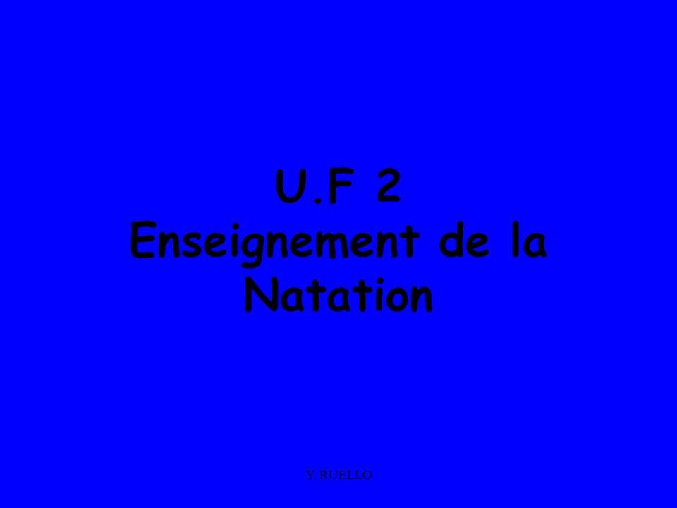 Y. RUELLO U.F 2 Enseignement de la Natation