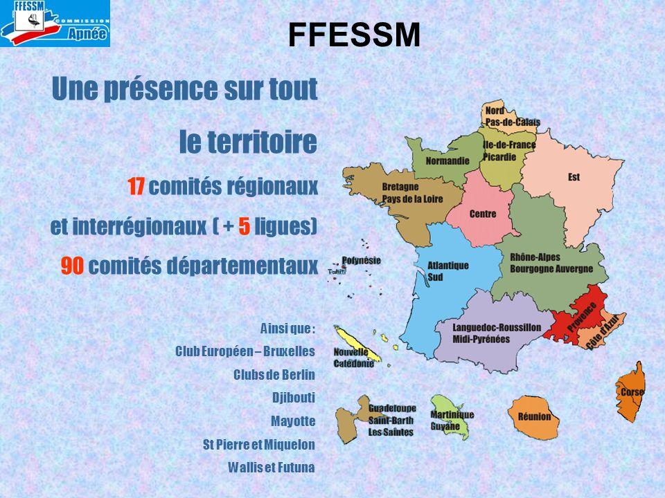 Une présence sur tout le territoire 17 comités régionaux et interrégionaux ( + 5 ligues) 90 comités départementaux Ainsi que : Club Européen – Bruxell
