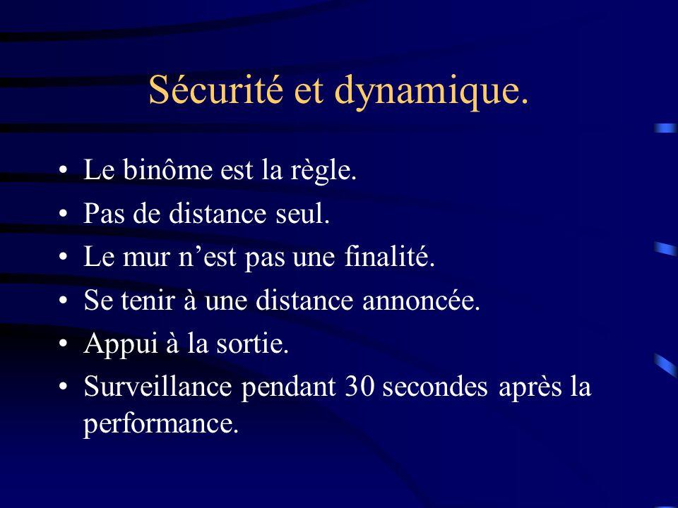 Sécurité et dynamique. Le binôme est la règle. Pas de distance seul.