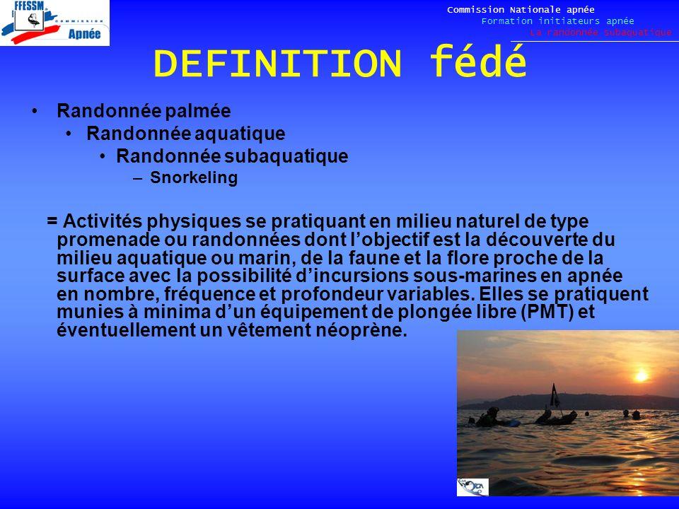 LES ECOGESTES Commission Nationale apnée Formation initiateurs apnée La randonnée subaquatique LACHARTE - Je m engage à : 1.