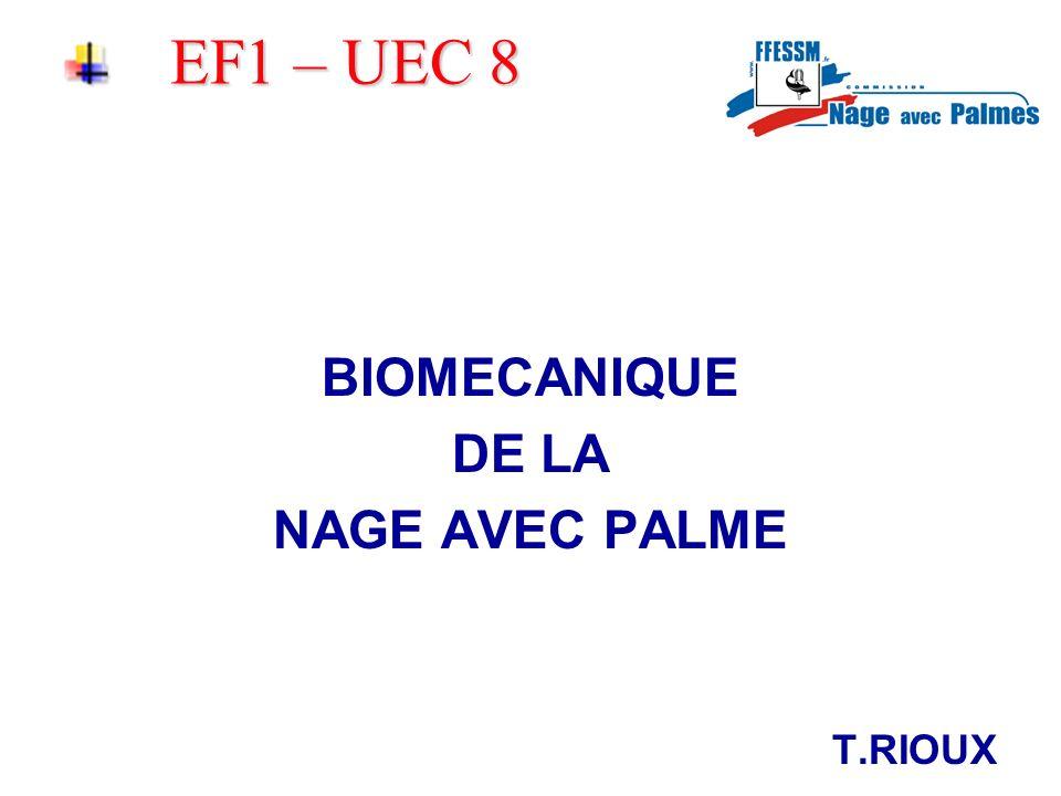 EF1 – UEC 8 Introduction: Un nageur en déplacement est un système qui crée des zones de résistances qui tendent à freiner son action.