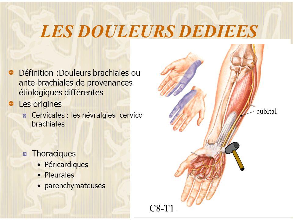 GENERALITES Les caractéristiques de la douleur Classique pour la différenciation inflammatoire/mécanique Moins informatives pour ce qui est de la topo
