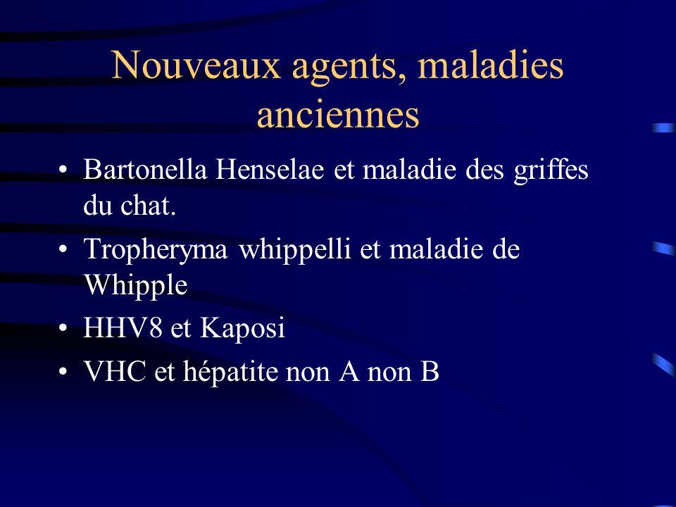Nouveaux agents, maladies anciennes Bartonella Henselae et maladie des griffes du chat.