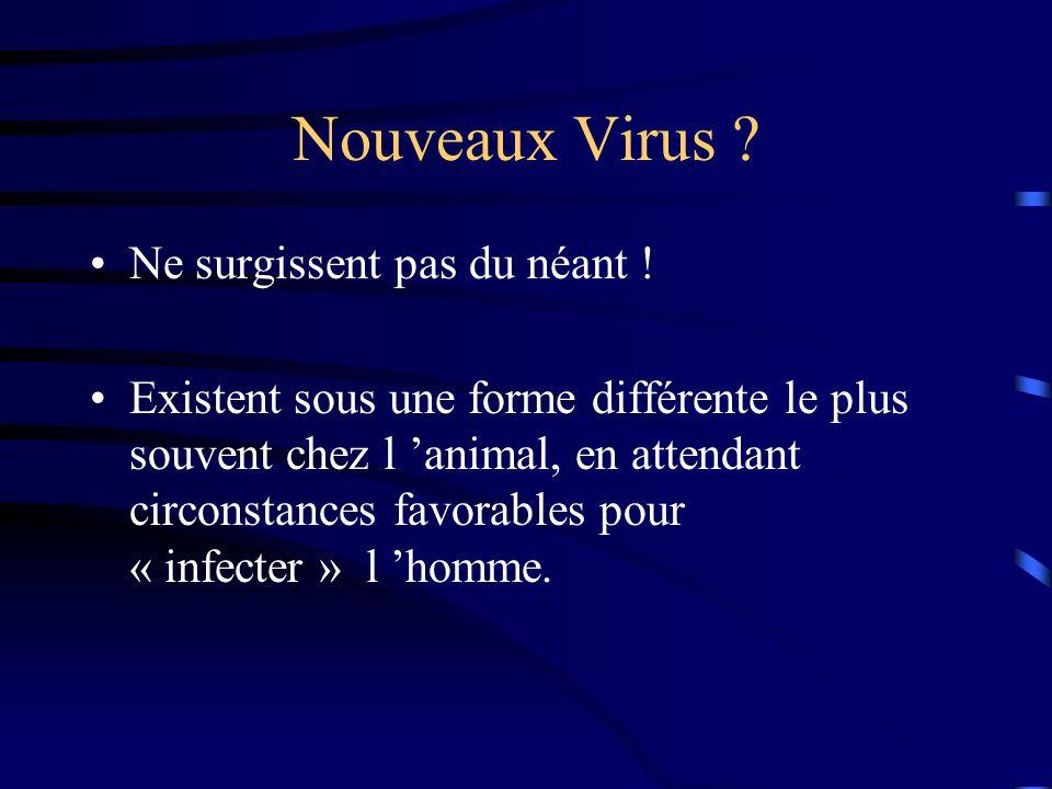 Nouveaux Virus .Ne surgissent pas du néant .