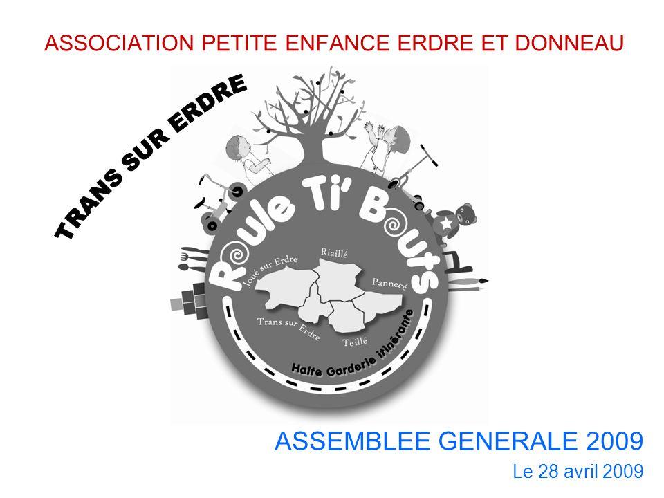 ASSOCIATION PETITE ENFANCE ERDRE ET DONNEAU ASSEMBLEE GENERALE 2009 Le 28 avril 2009