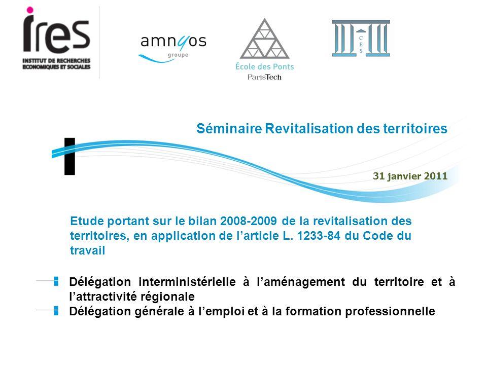 Séminaire Revitalisation des territoires 31 janvier 2011 Délégation interministérielle à laménagement du territoire et à lattractivité régionale Délég