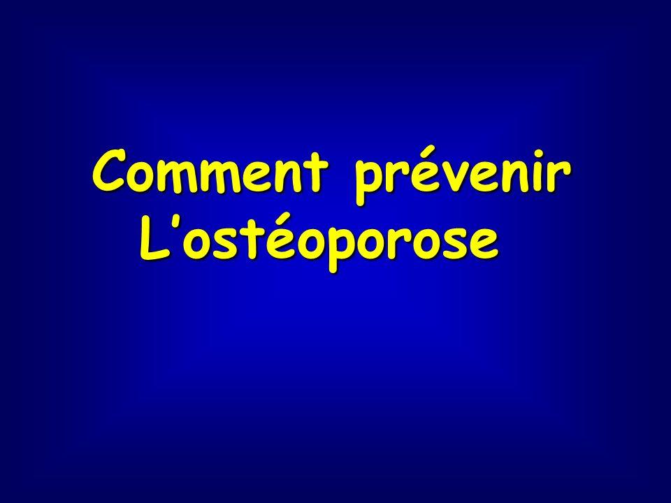 Comment prévenir Lostéoporose