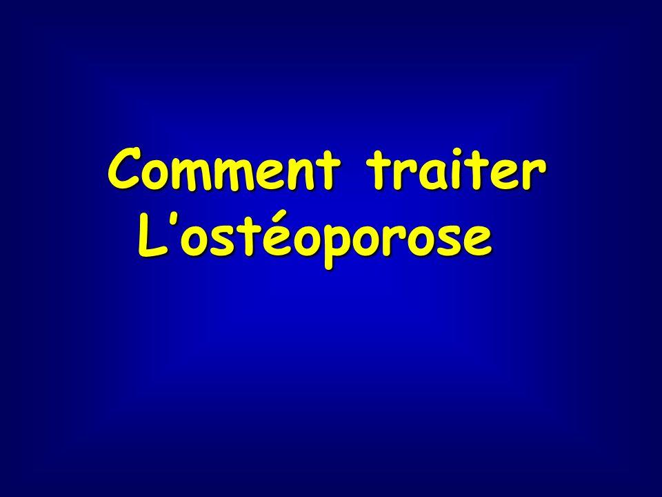 Comment traiter Lostéoporose