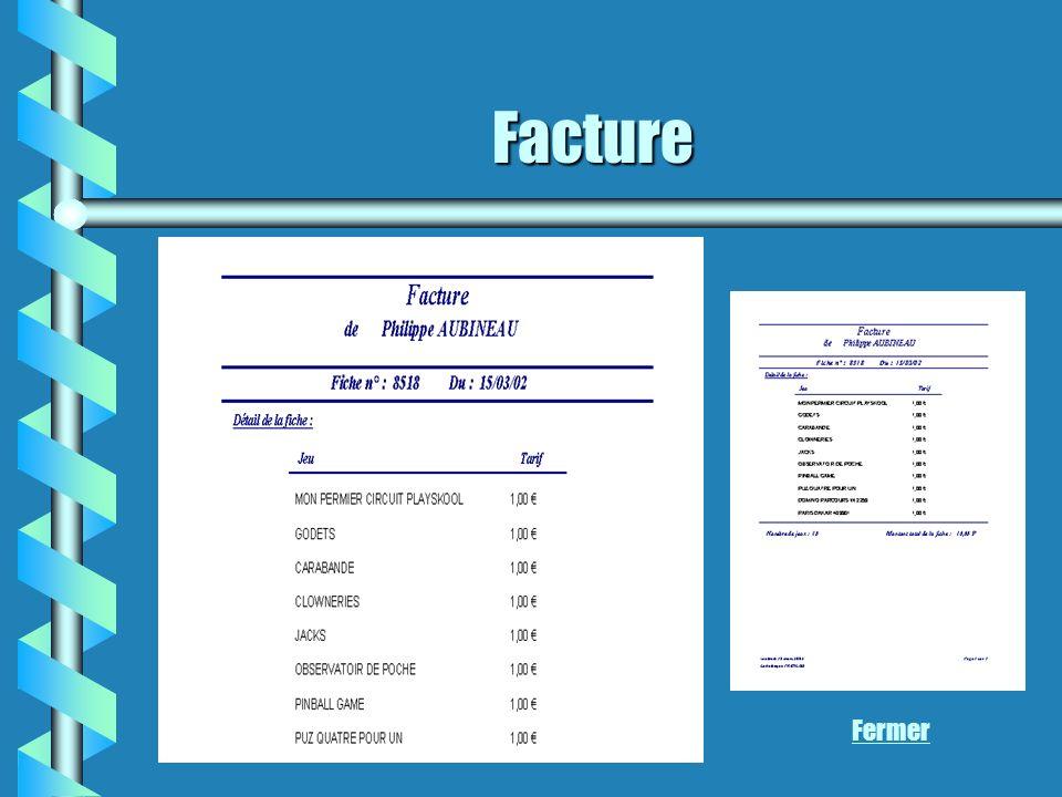 Facture Fermer