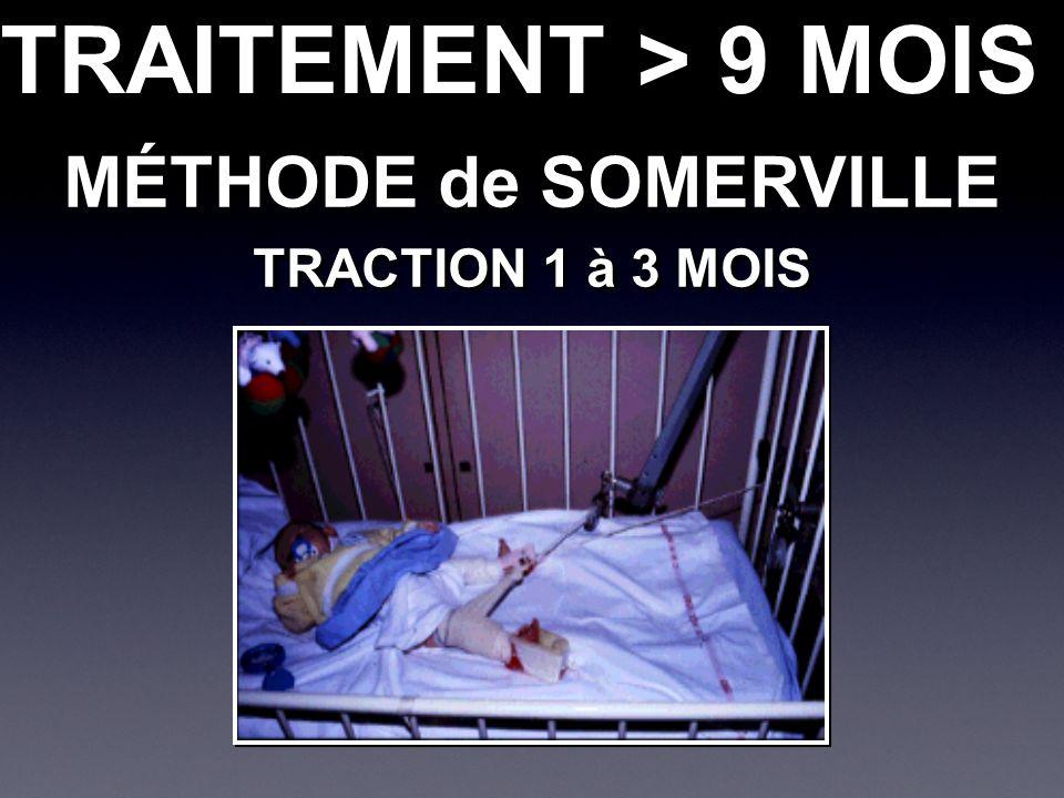 MÉTHODE de SOMERVILLE TRACTION 1 à 3 MOIS MÉTHODE de SOMERVILLE TRACTION 1 à 3 MOIS TRAITEMENT > 9 MOIS