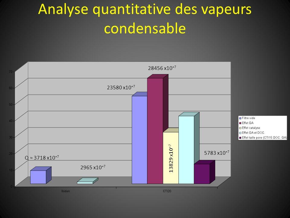Analyse quantitative des vapeurs condensable Q 3718 x10 +7 2965 x10 +7 23580 x10 +7 28456 x10 +7 5783 x10 +7 13829 x10 +7
