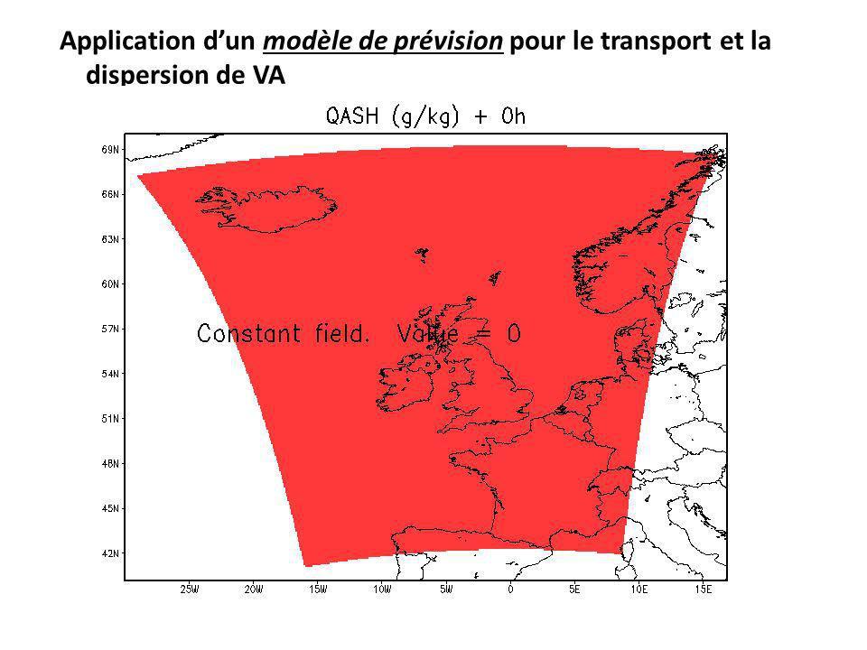 Application dun modèle de prévision pour le transport et la dispersion de VA Weather Research & Forecasting Model Modèle WRF =