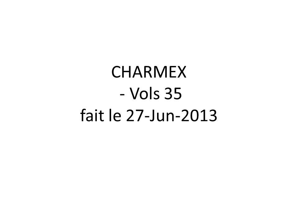 CHARMEX - Vols 35 fait le 27-Jun-2013