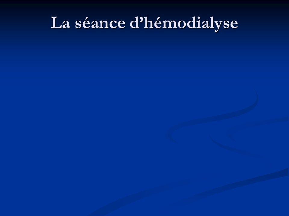 La séance dhémodialyse Son Son cadre de fonctionnement est défini par le décret n° 2002 1197 du 23/09/2002 NECESSITE: NECESSITE: Un générateur d'hémod