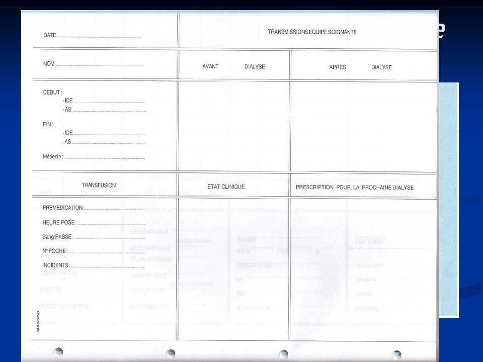La dialyse est commencée La dialyse est commencée -Les informations concernant les soins dispensée sont notées sur le cahier de dialyse ainsi que les