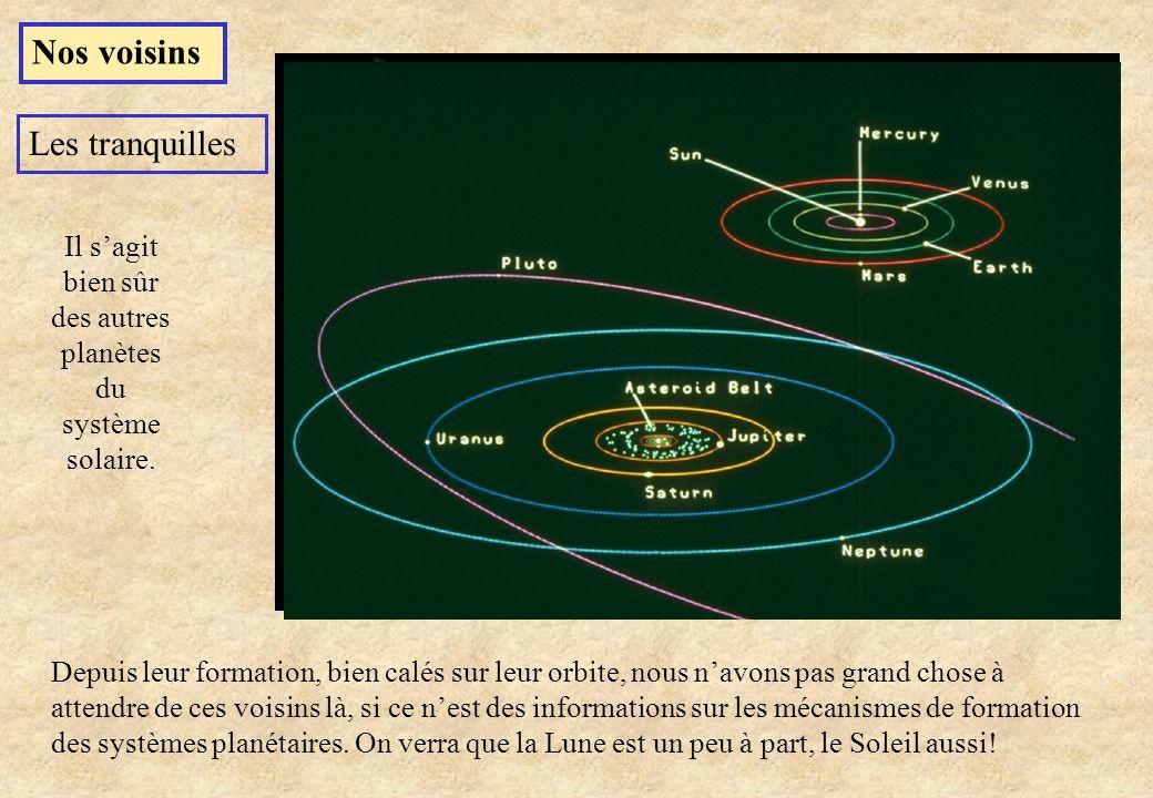 Composition des glaces cométaires daprès les observations de Hale-Bopp et Hyakutake Quand le noyau de la comète approche du périhélie, les glaces sont sublimées, les gaz sont évacués sous la forme de la queue de la comète.